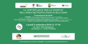 Opportunità per startup nell'Area Metropolitana di Bologna