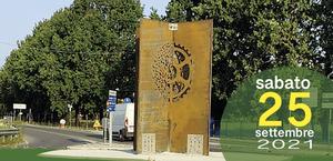 Intitolazione rotatoria di Via Roma a Libero Masetti e inaugurazione scultura di Filippo Pozzi