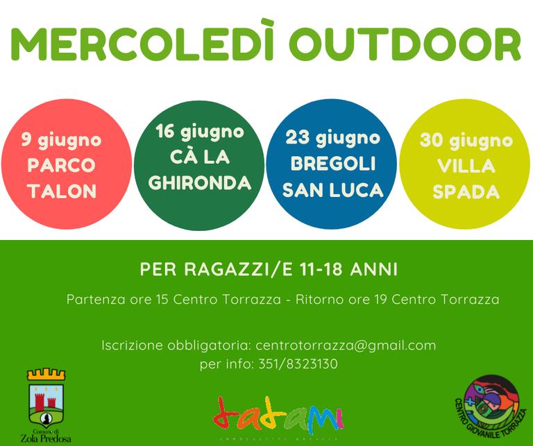 mercoledì outdoor: programma