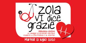 """""""Zola  Vi dice  grazie"""" - Emergenza Covid-19:  un omaggio al personale sanitario residente a Zola Predosa e ai volontari"""
