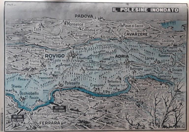 La mappa dell'alluvione del polesine
